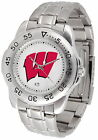 Wisconsin Badgers Sport Watch Steel Band White Dial Ladies or Mens