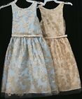 NEW Sweet Kids #630 Girls sleeveless gold butterfly jacquard Pageant Party Dress