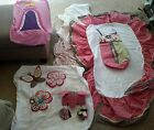 cocalo diaper stacker, wall hangers, dust ruffle,  moblie piece , etc . read