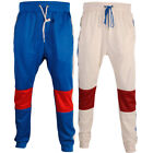 Mens Soulstar Contrast Panels Zip Pockets Trousers Jogging Pant Gym Track Bottom