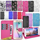 For Samsung Galaxy S6 Edge - Wallet Leather Case Cover Book Stand + Mini Stylus