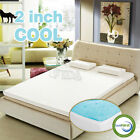 "2"" inch Cool Gel Memory Foam Mattress topper pad twin full queen king with cover"