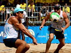 D5395 Beach Volleyball Brazil Men Team Gigantic Print POSTER