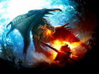 Dragon Fantasy Fire Knight Art Gigantic Print POSTER