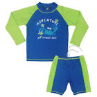 2Pcs Boy Long Sleeve Tops + Pants Swimwear Kids Crab UV 50+ Surf Swimsuit 5 Size