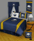 Buffalo Sabres Comforter Sham and Sheet Set Twin Full Queen King Size