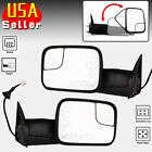 Towing Power Flip Up Heated Side View Mirrors Pair Set for 98-01 Dodge Ram Truck