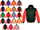 Faux Leather Sleeve Letterman Varsity Men Wool Jackets Hoodie #RS-RS-H-RB-FL