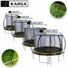 KANGA 6FT / 8FT / 10FT / 12FT Trampolines with Enclosure, Ladder, Anchor Kit