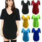 Plus Size Women's Summer V Neck Short Sleeve Shirt Loose Casual Blouse Tee Tops