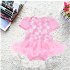 Baby Toddler Girls Short Sleeve Clothes Dress Girl Kids Party Wedding Dress S46