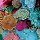 50 Rose Flower Floral Collar Sew Patch Motif Applique Badge Embroidered Bust Lot