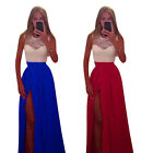 Casual Summer Split Boho Long Maxi Dress Lady Evening Party Ball Prom Gown S32