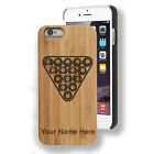 Bamboo Case For iPhone BILLIARD BALLS POOL Personalized Engraving Included $19.99 USD