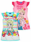 Girls Disney Frozen Short Sleeved Night Dress New Kids Nightwear Ages 4-10 Years