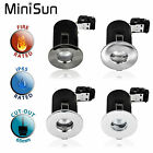 MiniSun Fire Rated LED Bathroom Downlights IP65 Recessed Shower Ceiling Lights