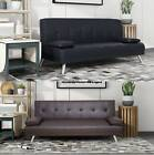 WestWood Faux Leather Chunky Sofa Bed recliner 3 Seater Modern Luxury Design