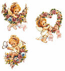 Ceramic Decals Adorable Cherub Angels Flower Heart Swag Butterfly (B) Blonde image