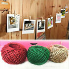 Multicolor 30M 1 Roll Jute String Hemp Rope For Bracelet Necklace DIY Decor New