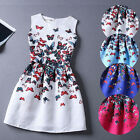 Casual Sleeveless Dresses Womens Dress Summer Vest Dress Butterfly