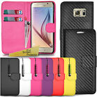 For Samsung Galaxy S6 Edge Plus - Wallet Leather Case Flip Cover + Screen Guard