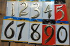 """4"""" Traditional Solid Brass House Mailbox Address Number Hillman Group nail on"""