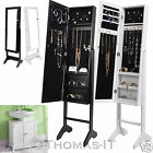 NEW MOUNTABLE AND FLOOR STANDING MIRROR JEWELLERY CABINET STORAGE ORGANISER BOX