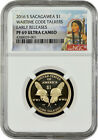 2016 S Sacagawea Wartime Code Talkers E.R. NGC PF69 Ultra Cameo (Portrait Label)