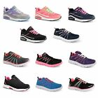 New Womens Ladies Running Trainers Shock Absorbing Fitness Gym Sports Shoes Size