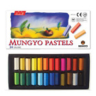 Внешний вид - MUNGYO Soft Pastels 24/32/48/64 Colors Set Half Length Square Chalk Vivid Crayon