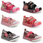 Girls Kids Canvas Pumps Casual Trainers School Shoes Infant Flat Shoes Size