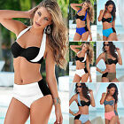 Sexy Women Swimwear High Waisted Push Up Bikini Set Swimsuit Beachwear Plus Size