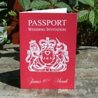 Personalised 8 Page Passport Wedding Invitation Any Colour - With Free Envelopes