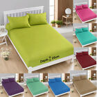 Fitted Sheet Soft Cotton Polyester Blend Single Double King Fitted Bed Sheet