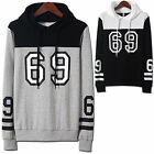 Mens Luxury Hoodie Jacket Cardigan Sweater Jumper Blazer Top T-Shirts W140 - S/M