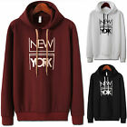 Mens NEWYORK Napping Hoodie Jacket Cardigan Sweater Jumper T-Shirts Top W231 S/M