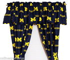 Michigan Wolverines Curtains Drapes  Valance Set with Tie Backs