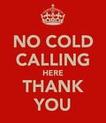 No Cold Callers Keep Calm No Soliciting Sticker Self Adhesive