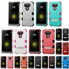 NEW FOR LG G5 PHONE BLACK TUFF HYBRID RUBBERIZED SOFT/HARD SKIN STAND COVER CASE