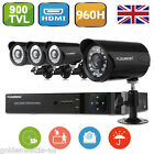 8CH Full 960H HDMI DVR Outdoor 900TVL IR Night CCTV Security Cameras System Kit