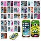 Impact Design Hard Case +Soft TPU Hybrid Protector TUFF Cover for iPhone 5 5S SE