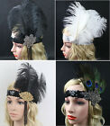 Vintage Flapper Feather Headband Hair Accessories Dance Costume Headpiece Party