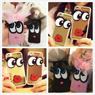 Fashion Bling Cartoon Lace Bow Big Eyes Rigid Plastic Case Cover For Cell Phone