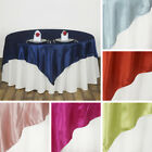 """30 x SATIN SQUARE 90x90"""" TABLE OVERLAYS Wedding Party Catering WHOLESALE LOT"""