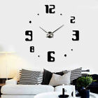 Fashion Modern Frameless Large Wall Clock DIY Style Interior Design Big Time