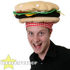FAST FOOD HAT NOVELTY PIZZA HOT DOG BURGER CHILLI FANCY DRESS COSTUME ACCESSORY
