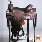 DF202 HILASON WIDE GULLET DRAFT WESTERN TRAIL ENDURANCE HORSE SADDLE 15 16 17 18