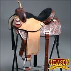 "TT204MBK1 HILASON FLEX-TREE BARREL RACING TRAIL WESTERN SADDLE 14"" 15"" 16"" 17"""