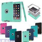 New Hybrid Shockproof Heavy Rubber Case Cover For iPad 2/3/4/5/6 iPad Mini 1/2/3