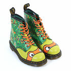 Dr Martens Unisex TMNT Mikey 8-Eyelet Leatther Boot Green / Multi